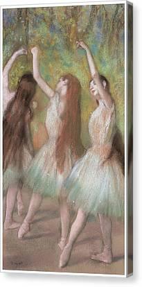 Green Dancers Canvas Print by Edgar Degas