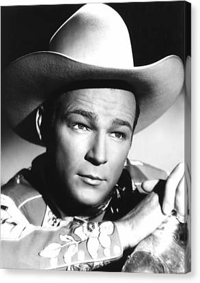 Hands Across The Border, Roy Rogers Canvas Print by Everett