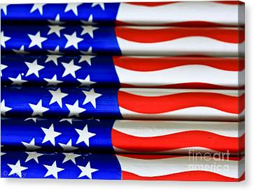Happy 4th Canvas Print by Tracy  Hall
