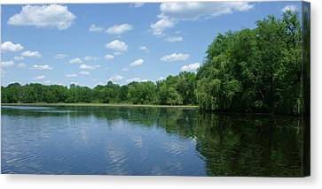 Harris Pond Canvas Print by Anna Villarreal Garbis