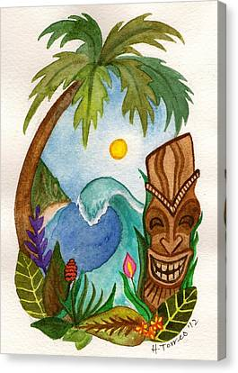 Hawaiian Vignette Canvas Print by Heather Torres