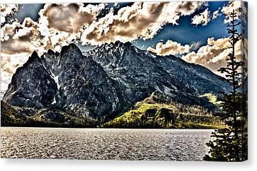 Hdr Jenny Lake Canvas Print by John K Sampson
