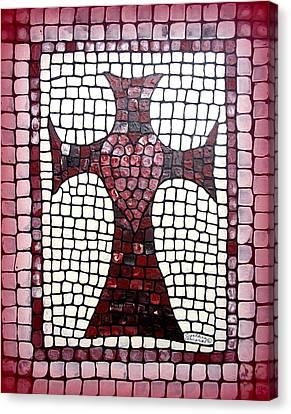 Heart Cross Canvas Print by Cynthia Amaral