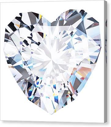 Heart Diamond  Canvas Print by Setsiri Silapasuwanchai