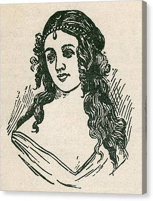 Helen Jewett 1813-1836 Was An New York Canvas Print by Everett