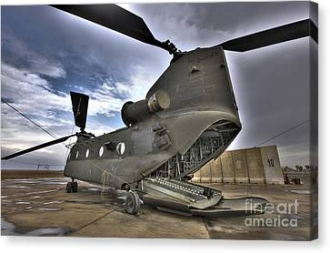 High Dynamic Range Image Of A Ch-47 Canvas Print by Terry Moore
