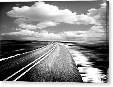 Highway Run Canvas Print by Scott Pellegrin