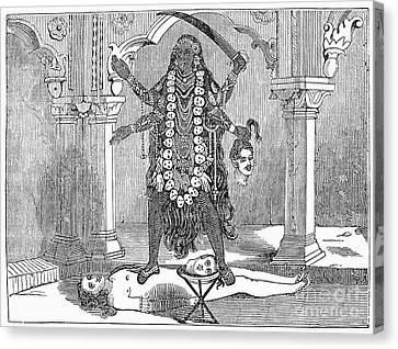 Hindu Goddess: Kali Canvas Print by Granger