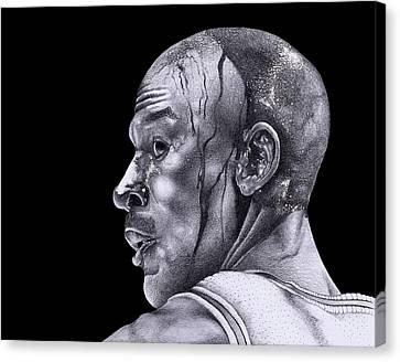 Homage To Jordan Canvas Print by Lee Appleby