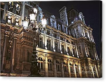 Hotel De Ville In Paris Canvas Print by Elena Elisseeva