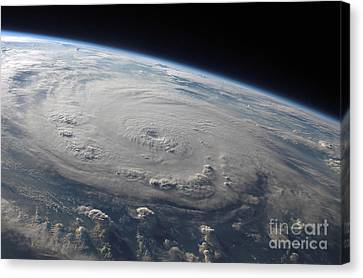 Hurricane Felix Over The Caribbean Sea Canvas Print by Stocktrek Images