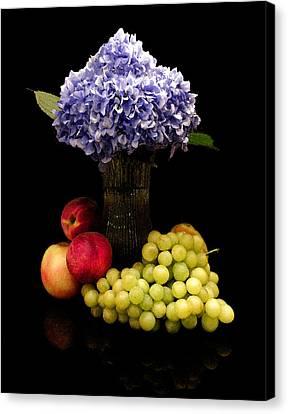 Hydrangea And Fruit Canvas Print by Sandi OReilly