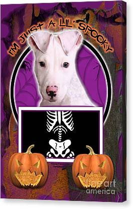 I'm Just A Lil' Spooky Pitbull  Canvas Print by Renae Laughner