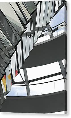 Inside Of The Glass Dome Of Reichstag  Canvas Print by Igor Sinitsyn