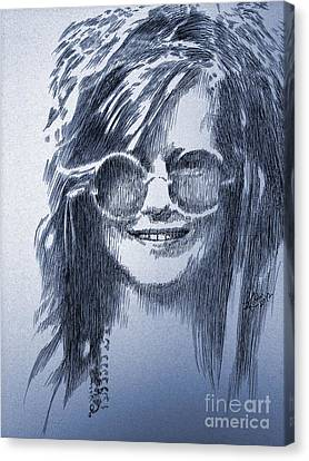 Janis Joplin Canvas Print by Robbi  Musser