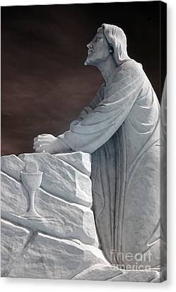 Jesus Kneeling - Religious Christian Art Canvas Print by Kathy Fornal