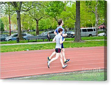 Jogging Canvas Print by Photo Researchers