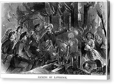Kansas: Lawrence, 1856 Canvas Print by Granger
