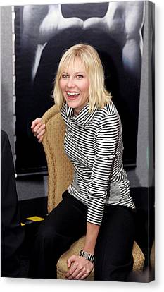 Kirsten Dunst At The Press Conference Canvas Print by Everett