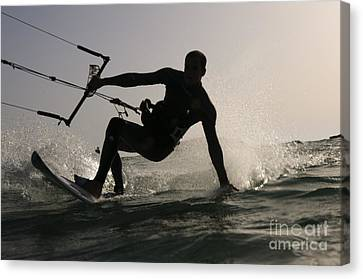 Kitesurfing Board Canvas Print by Hagai Nativ