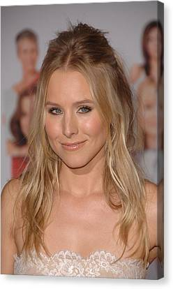 Kristen Bell At Arrivals For You Again Canvas Print by Everett