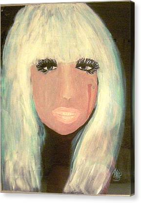Lady Gaga Canvas Print by Marie Bulger