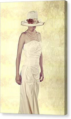 Lady In White Dress Canvas Print by Joana Kruse