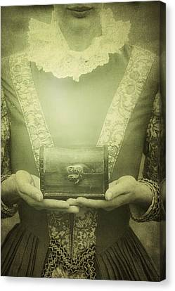 Lady With A Chest Canvas Print by Joana Kruse