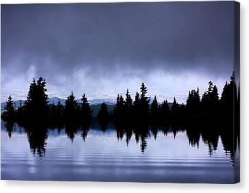 Lake Reflection Canvas Print by Odon Czintos