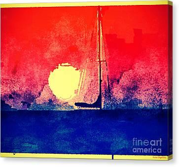 Last Boat Leaving Canvas Print by Christine Segalas