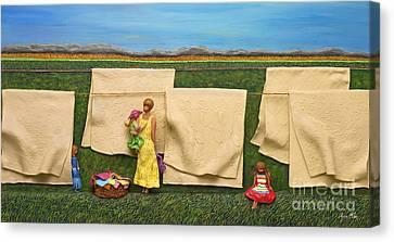 Laundry Canvas Print by Anne Klar
