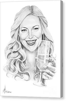 Laura Prepon Canvas Print by Murphy Elliott