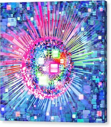 Lighting Effects And Graphic Design Canvas Print by Setsiri Silapasuwanchai