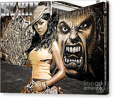 Lil Kim Canvas Print by The DigArtisT