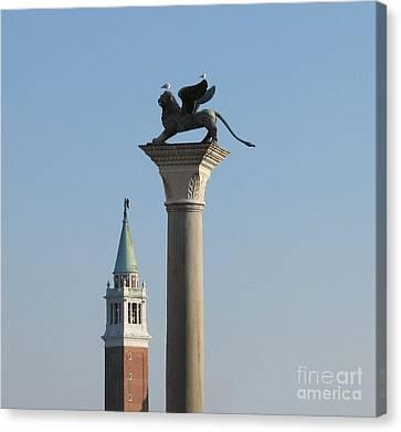 Lion Of Venice Canvas Print by Bernard Jaubert