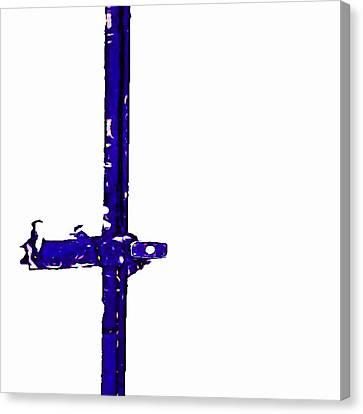 Long Lock In Blue Canvas Print by J erik Leiff