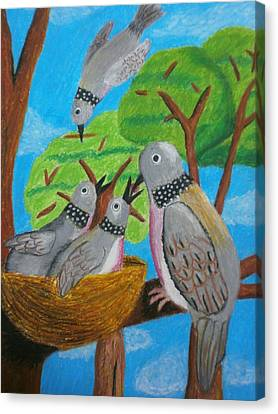 Love And Dove Canvas Print by Adam Wai Hou