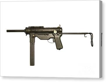 M3a1 Submachine Gun, 45 Caliber Canvas Print by Andrew Chittock