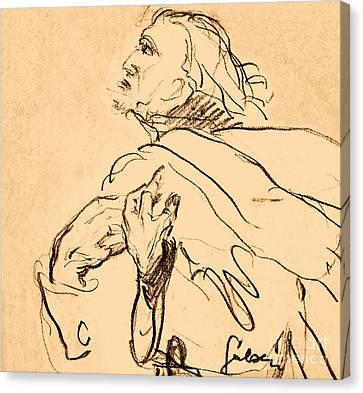 Man Portrait Canvas Print by Odon Czintos