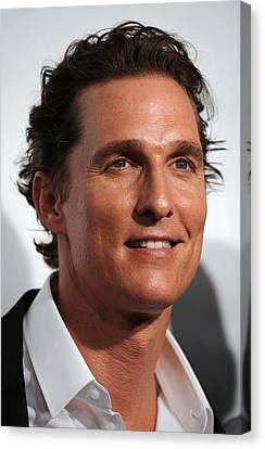 Matthew Mcconaughey At Arrivals Canvas Print by Everett