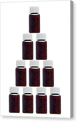 Medicine Bottles, Artwork Canvas Print by Victor De Schwanberg