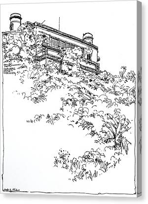 Mexico City Chapultepec Castle Canvas Print by Robert Birkenes