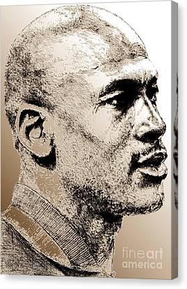 Michael Jordan In 1990 Canvas Print by J McCombie