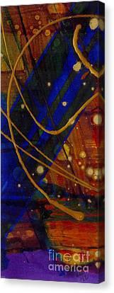Mickey's Triptych - Cosmos I Canvas Print by Angela L Walker
