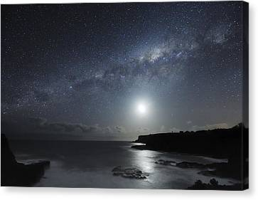 Milky Way Over Mornington Peninsula Canvas Print by Alex Cherney, Terrastro.com