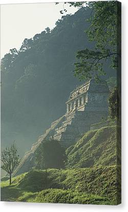 Misty View Of The Temple Canvas Print by Kenneth Garrett