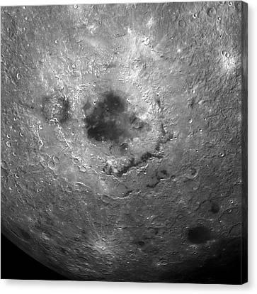 Moon's Surface Canvas Print by Detlev Van Ravenswaay