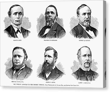 Mormon Apostles, 1877 Canvas Print by Granger