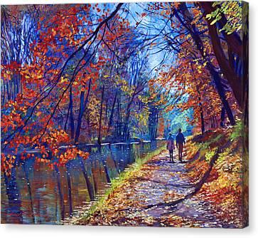 Morning Glory Canvas Print by David Lloyd Glover