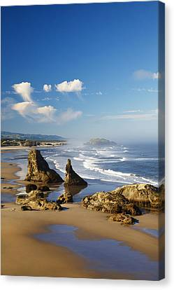 Morning Light Adds Beauty To Rock Canvas Print by Craig Tuttle